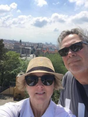 My husband Joe and I in the Czech Republic