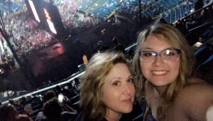 My daughter Anna & I at the U2 concert