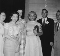 Class of 1939 - Marion Milton, Edine Strange Caffrin, Veradean Hutchinson Rush, Frances Smith Roberts, Ancil Rudisil, Jerry Smith