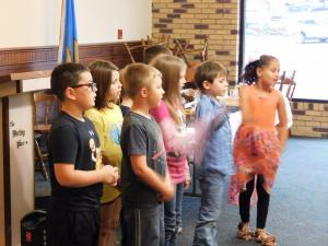 Second Grade performing at the Retired Teachers Luncheon