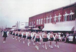 1956 Girls Drill Team Wilburton Parade