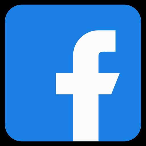 a facebook icon button.