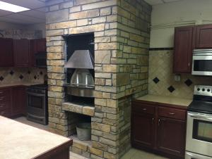 Brick Pizza Oven we purchased with a $25,000 grant we were awarded for program improvements.