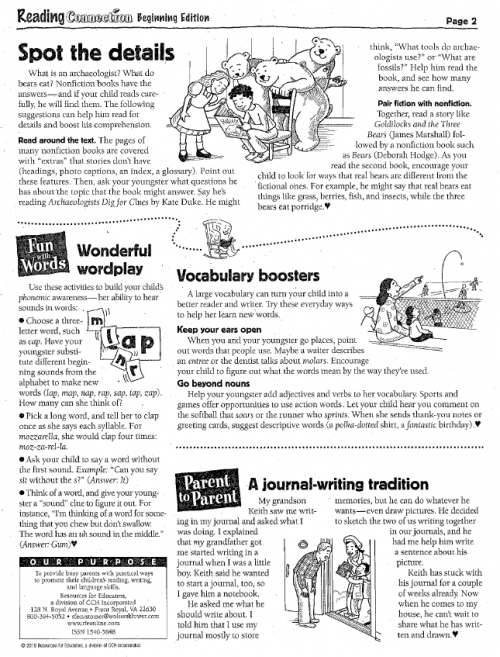 OCTOBER LITERACY NEWSLETTER PAGE 2