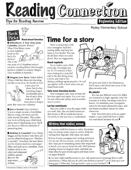 OCTOBER LITERACY NEWSLETTER PAGE 1