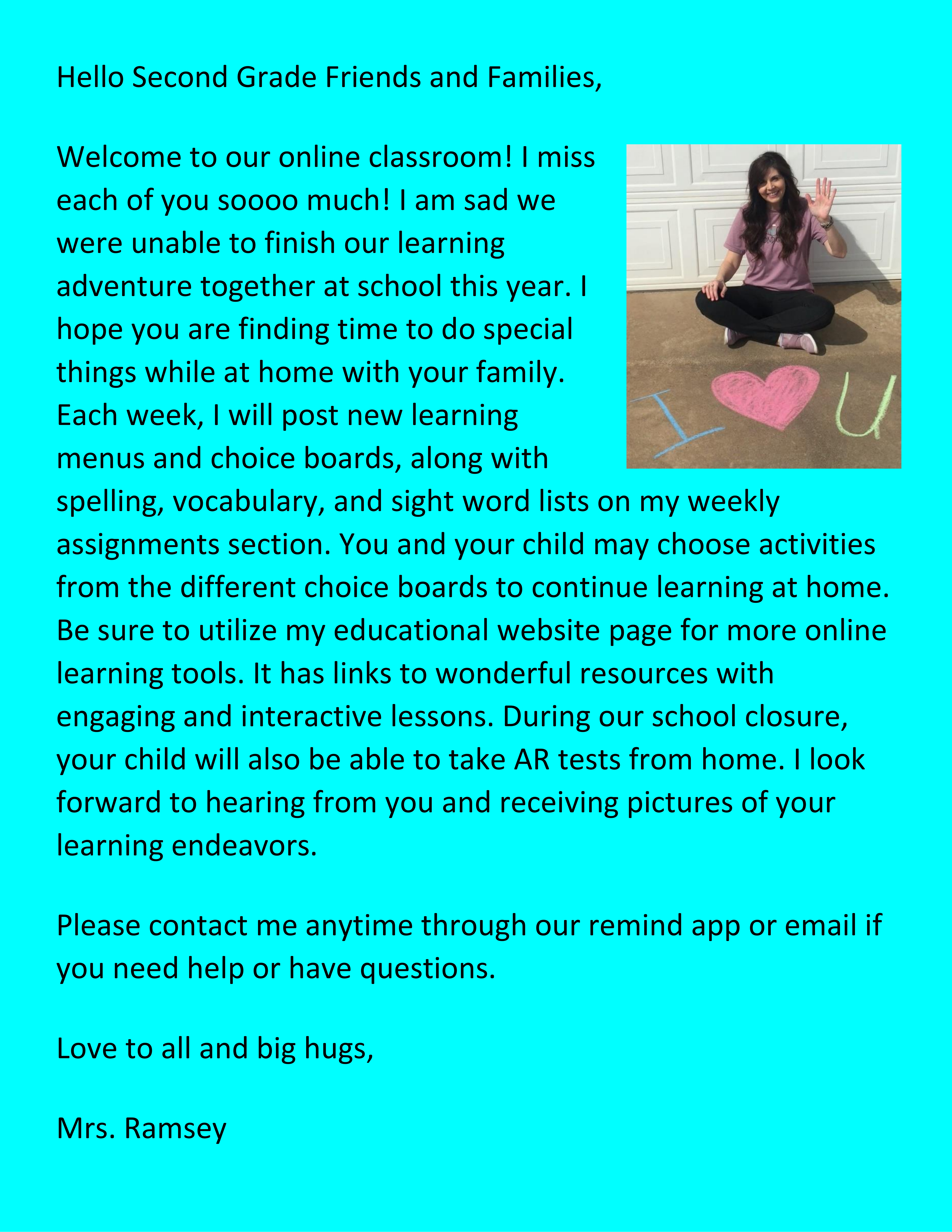 Homepage Letter