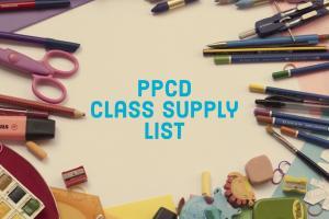 PPCD Class Supply List