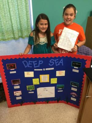 Kaylee Nichols and Victoria O'Neill present their Biome Project about the Deep Sea.