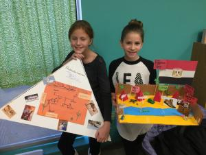 Anna Grace Mitchell and Karlee Files present their biome project about Egypt.
