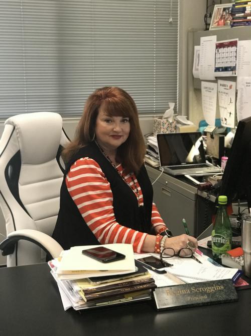Brunson Principal picture in office