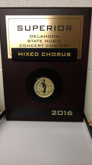 Byng Mixed Chorus OSSAA State Superior Award