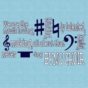 2017 choir t shirt back