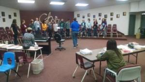 Ibaraki - Byng combined choir rehearsal, 2016