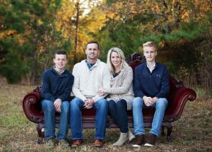 My family: Gage, Shawn, Angela, and Kade