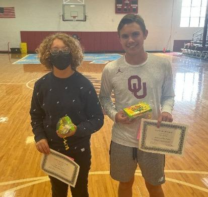 October 9th grade students of the month