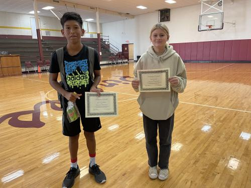 October 8th grade students of the month