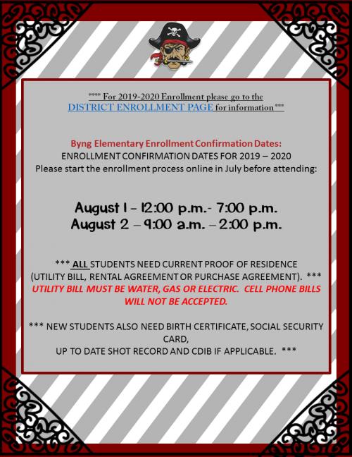 2019 - 2020 Enrollment Information