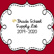 4th Grade List