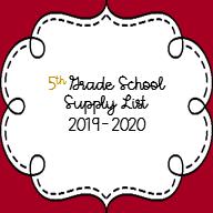 5th Grade List