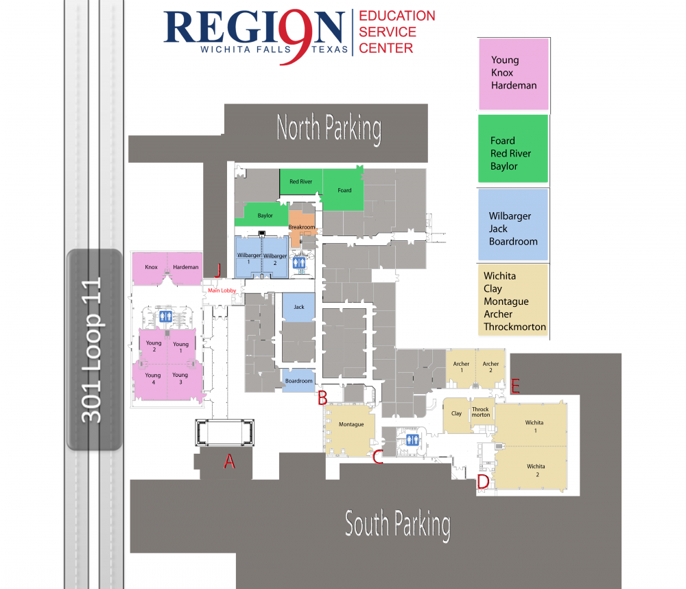 Region 9 ESC Building Map Updated August 2017