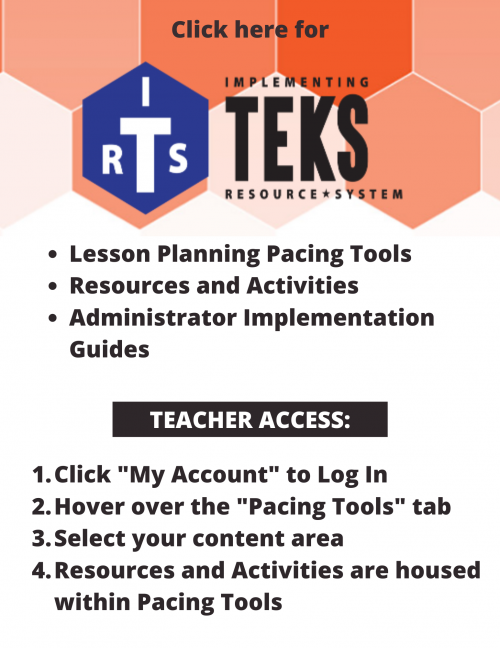 reads: click here for Implementing TEKS Resource System