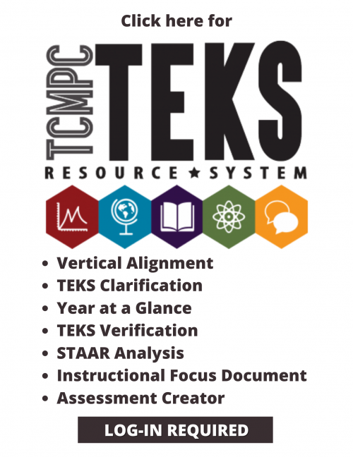 reads: click here for TEKS resource system