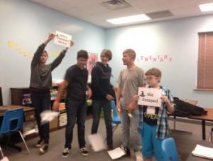 Freshmen escape the classroom!
