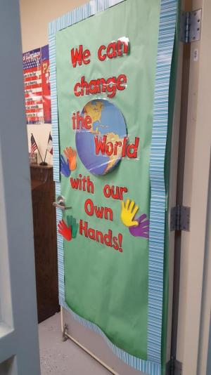 Classroom Door Decoration August 2016