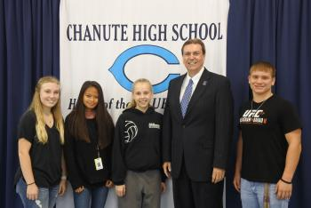 Dr. Watson with CHS Students leaders
