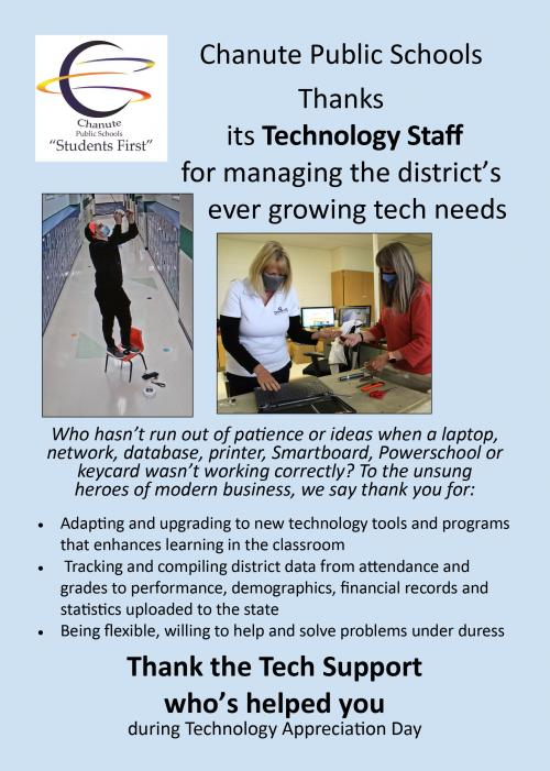 technology appreciation flyer