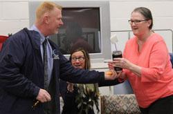 terri waggoner receives award