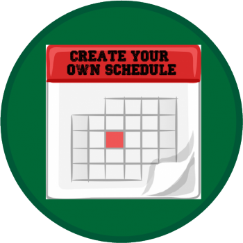 create your own schedule