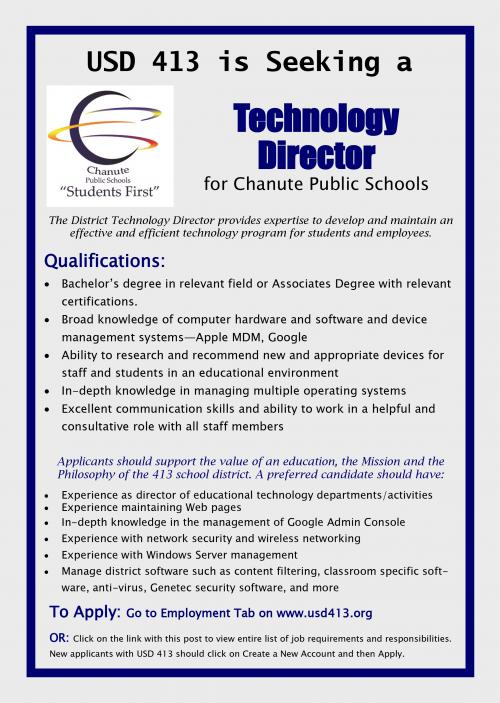 director of technology flyer