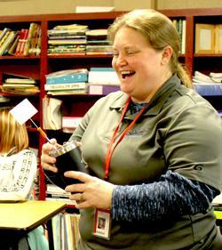 Shannon Bogle surprised by award