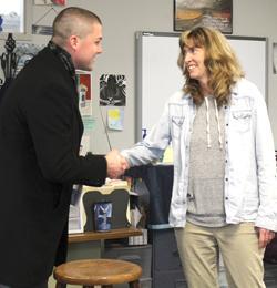 Tracy Walker receives award