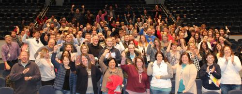 district staff celebrate KSDE gold star award for graduation rate