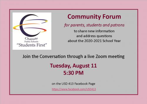 community forum aug. 11