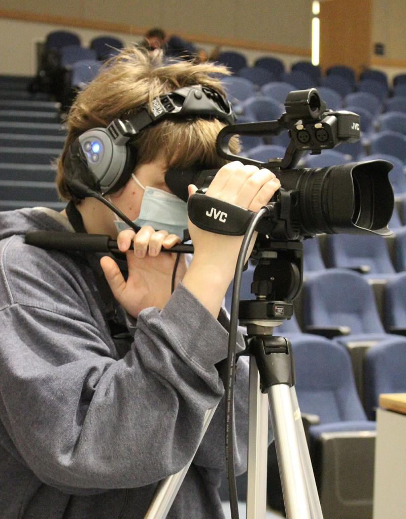CHS TV Production Class fills need during COVID school year