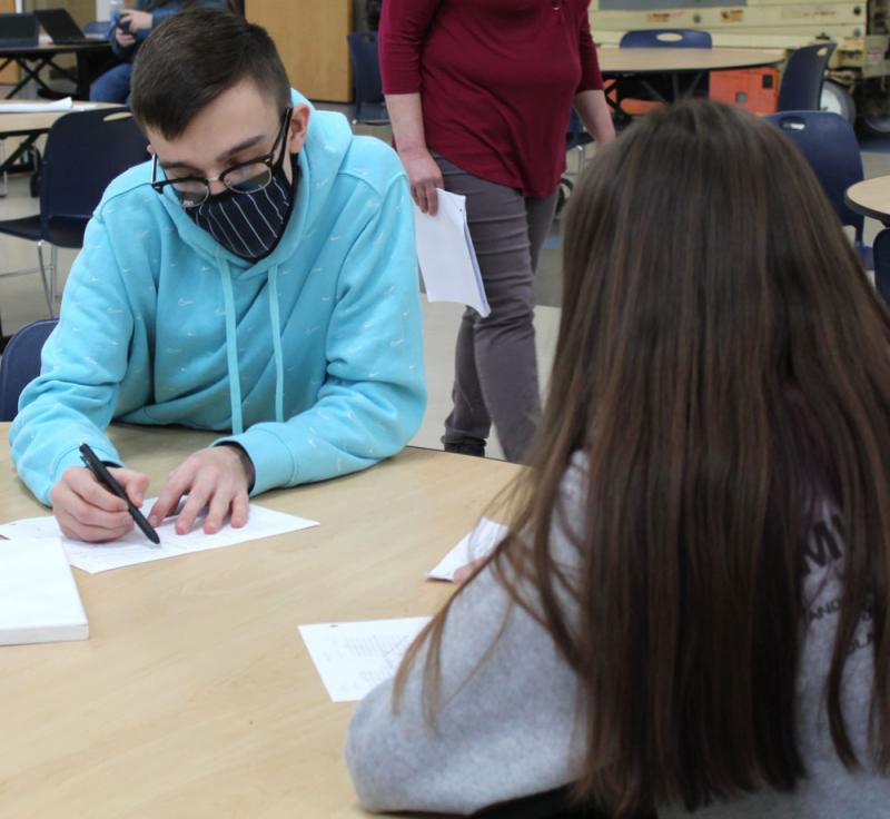CHS students help peers get caught up on class assignments