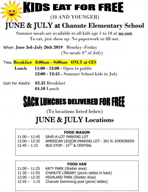 kids eat free flyer