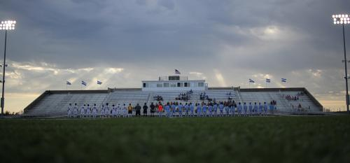 soccer players take the field at chs