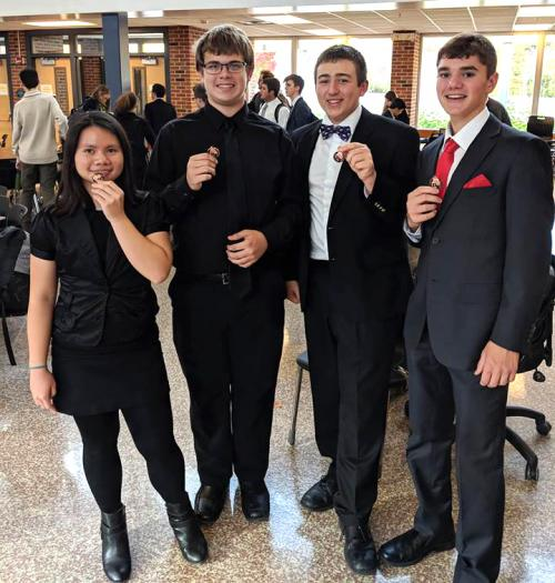 Medalists at Blue Valley Debate Tournament