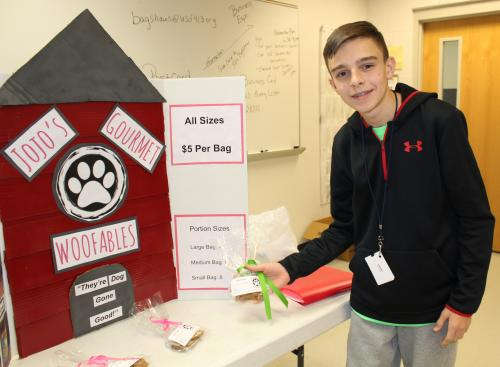 CHS business student shows his homemade dog treats