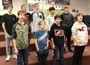 Royster vocalists present medley of music at Winter Concert