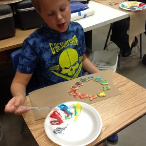 Color Wheel Frosting, 6th Grade