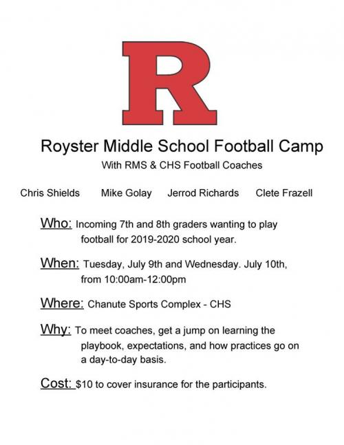 rms summer football flyer
