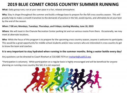 summer running flyer