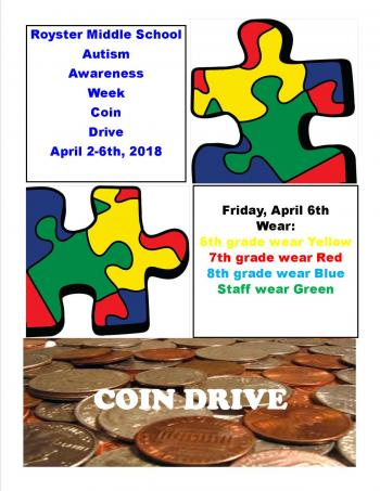 Coin drive for Autism