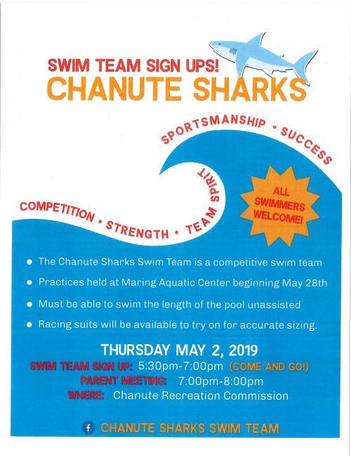 swim team flyer