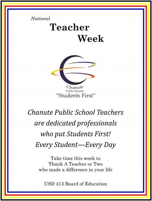 national teacher appreciation week flyer